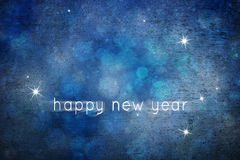 Grunge lovely blue abstract snowflake happy new year Royalty Free Stock Photo