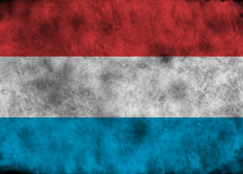Grunge Luxembourg flag. Royalty Free Stock Photo