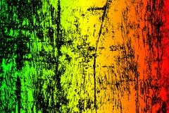 grunge målad skrapad texturbakgrund Reggaefärger för illustration EPS10 gör grön, gulnar, rött Royaltyfri Bild