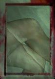 Grunge målning av ben Arkivbild