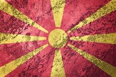 Grunge Macedonia flaga Macedońska flaga z grunge teksturą Obrazy Stock