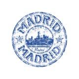 grunge Madrid pieczątka royalty ilustracja