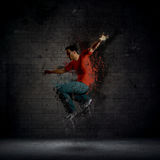 Grunge male dancer Stock Image