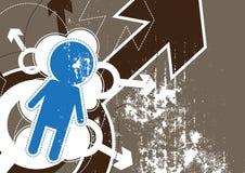 Grunge male icon background Stock Image