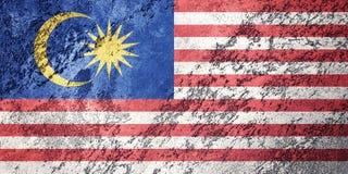 Grunge Malezja flaga Malezja flaga z grunge teksturą Zdjęcia Royalty Free
