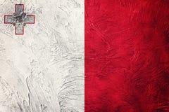 Grunge Malta flaga Malta flaga z grunge teksturą Obrazy Royalty Free