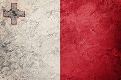 Grunge Malta flaga Malta flaga z grunge teksturą Zdjęcie Royalty Free