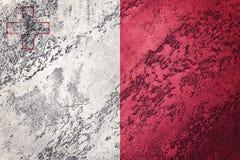 Grunge Malta flaga Malta flaga z grunge teksturą Obraz Royalty Free