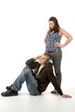 Grunge Man And Woman Together Stock Photos
