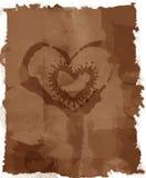 Grunge manchou a letra de amor Fotos de Stock Royalty Free