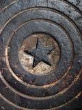 grunge manhole kanał ściekowy Obrazy Royalty Free