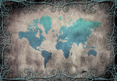 Grunge Map Royalty Free Stock Photography