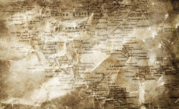 Grunge map background Stock Images