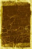 Grunge Map background texture. An old grungy map background texture with a grunge border royalty free stock photos