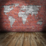 Grunge map room style Royalty Free Stock Photography
