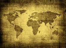 Grunge map of the world Stock Photography