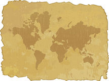 Grunge map of world Royalty Free Stock Photography