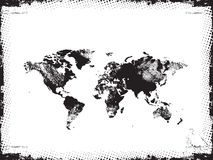 Grunge map of the world in black Royalty Free Stock Photo