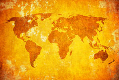 Grunge map of the world Royalty Free Stock Images