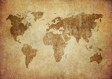 Grunge map of the world Stock Photos
