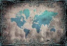 grunge mapa ilustracji