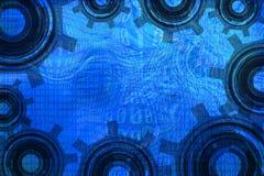 Grunge mapa i przekładnia Obraz Royalty Free
