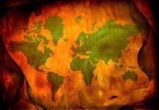 grunge mapy świata ilustracji