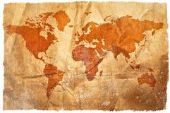 grunge mapy sepia ?wiat obraz stock
