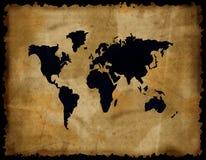 grunge mapy stary papierowy świat ilustracja wektor