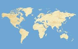 grunge mapy świata Zdjęcia Stock