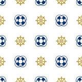 Grunge marine seamless pattern Royalty Free Stock Images