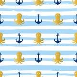 Grunge marine seamless pattern Stock Photography