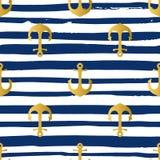 Grunge marine seamless pattern Stock Image