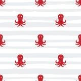 Grunge marine seamless pattern Royalty Free Stock Image
