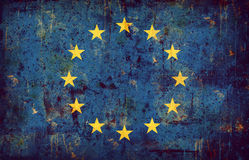 Grunge Markierungsfahne der Europäischer Gemeinschaft Lizenzfreies Stockbild