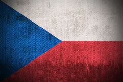 Grunge Markierungsfahne der Tschechischen Republik Lizenzfreie Stockbilder