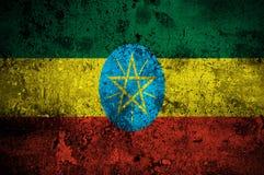 Grunge Markierungsfahne von Äthiopien Stockfotos
