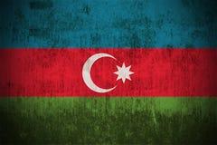 Grunge Markierungsfahne von Azerbaijan Stockbild
