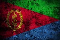 Grunge Markierungsfahne von Eritrea Lizenzfreie Stockbilder