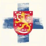 Grunge Markierungsfahne von Finnland lizenzfreies stockfoto