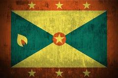 Grunge Markierungsfahne von Grenada Lizenzfreies Stockbild