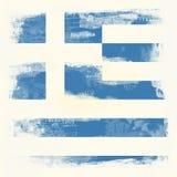 Grunge Markierungsfahne von Griechenland lizenzfreies stockfoto