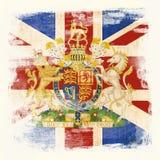 Grunge Markierungsfahne von Großbritannien lizenzfreie stockfotografie