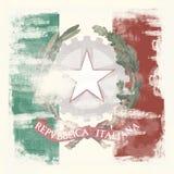 Grunge Markierungsfahne von Italien Lizenzfreie Stockbilder