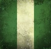 Grunge Markierungsfahne von Nigeria lizenzfreie stockbilder