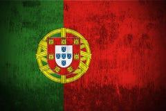 Grunge Markierungsfahne von Portugal Lizenzfreie Stockfotografie