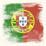 Grunge Markierungsfahne von Portugal Lizenzfreie Stockfotos