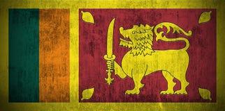 Grunge Markierungsfahne von Sri Lanka Lizenzfreies Stockfoto