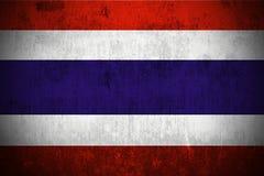 Grunge Markierungsfahne von Thailand Lizenzfreie Stockfotografie
