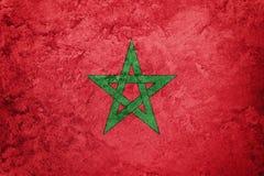 Grunge Maroko flaga Maroko flaga z grunge teksturą Zdjęcie Royalty Free